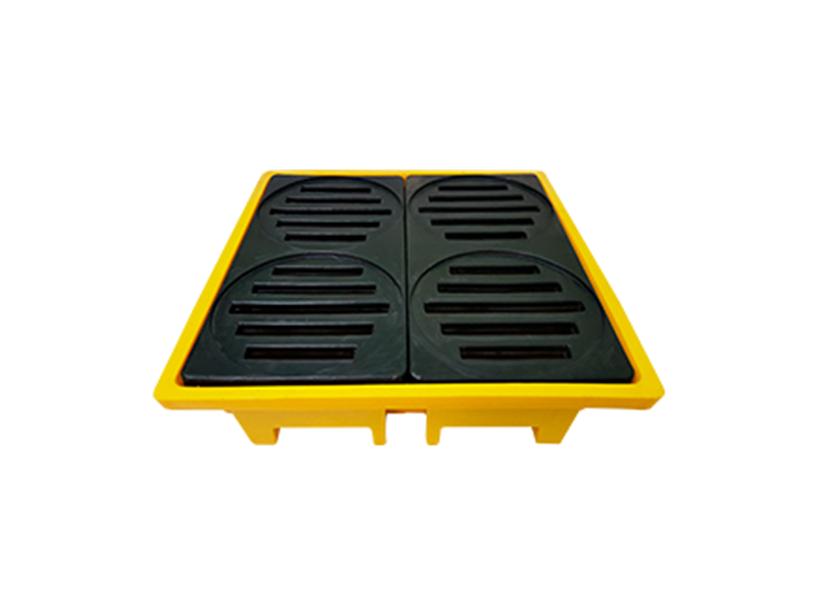 Pallet de contenção: medida preventiva para movimentação de líquidos químicos e inflamáveis